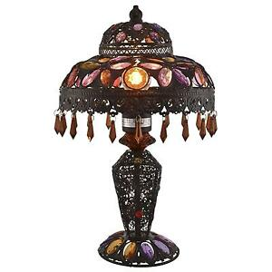 Moroccan lamp moroccan lighting furnishings ebay moroccan table lamp mozeypictures Images