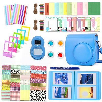 10 in 1 Camera Accessories Set with Case for Fujifilm Instax Mini 8 9 Pink Blue