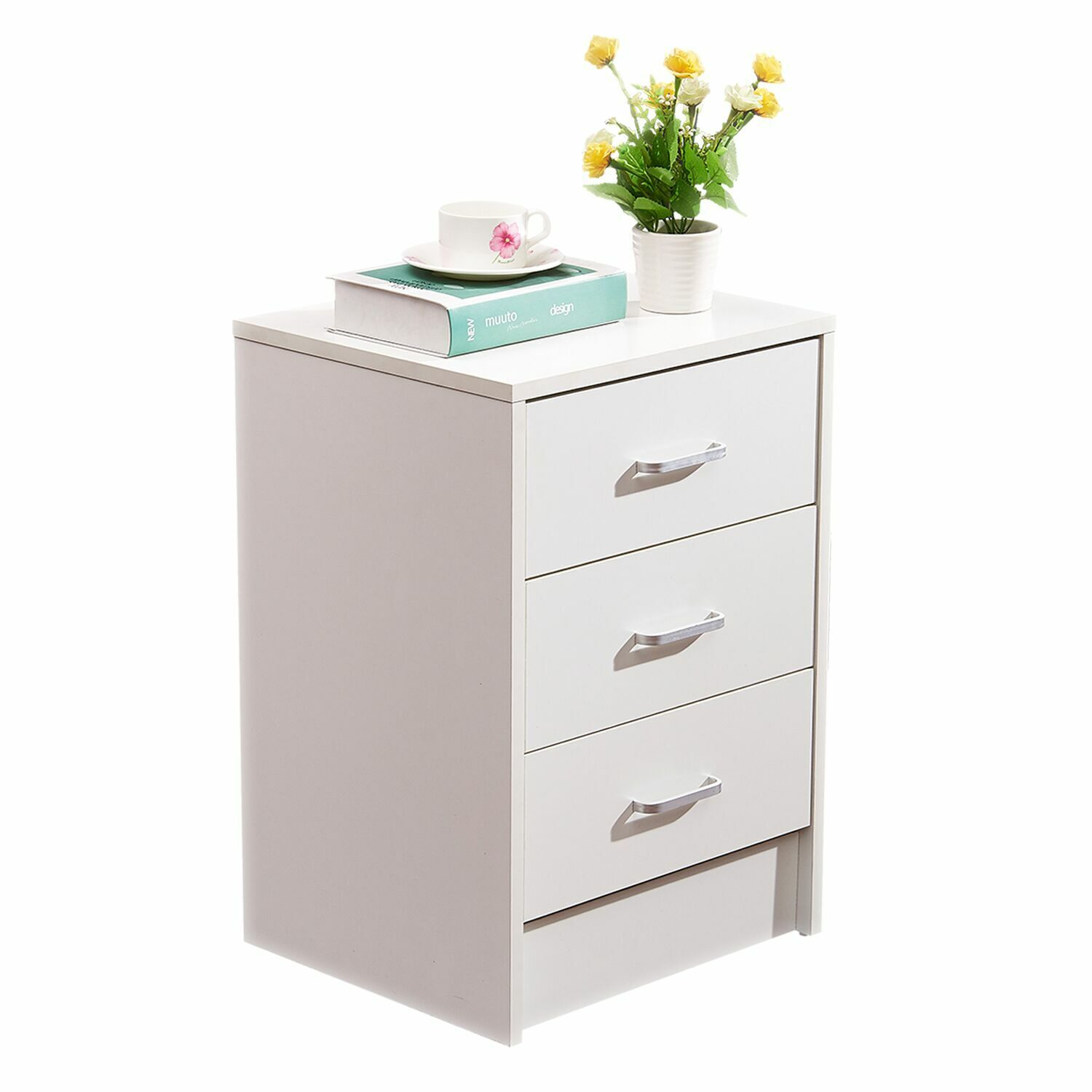 File Cabinet Table Desk Nightstand 3 Drawer File Storage for