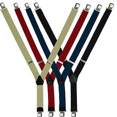 Hosenträger  Lederhosenträger mit 3 Clips in Y-Form für Damen und Herren EU