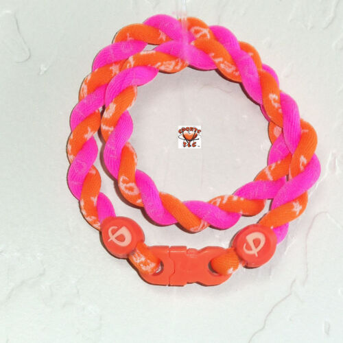 Phiten Tornado Necklace Custom:Bright Orange & Hot Pink