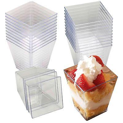 tschalen Transparent Eisbecher Plastikschälchen Einwegbecher (Dessertbecher)