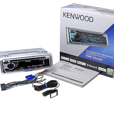 Kenwood KMR-D365BT Marine Boat Stereo CD Receiver Bluetooth (Replaced KMR-D362BT