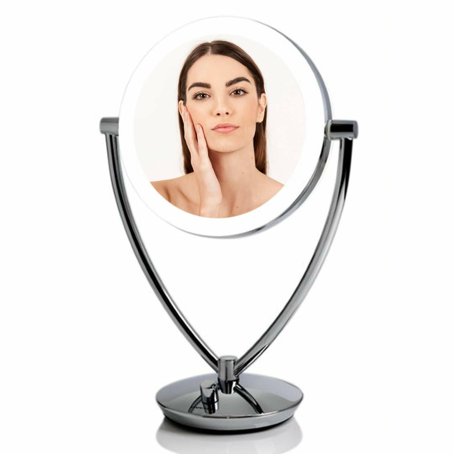 tabletop makeup mirror with led light 1x10x