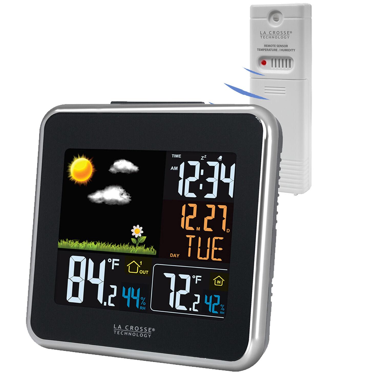 308a-146 La Crosse Technology Wireless Color Weather Stat...