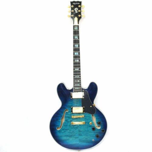 Semi-hollow body custom electric jazz guitar