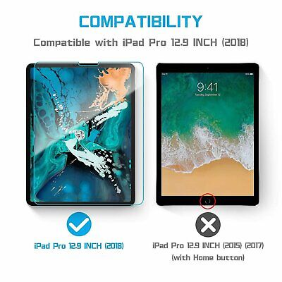 2-Pack Tempered Glass Screen Protector for iPad Pro 12.9″ – Fits 2018 Model only Computers/Tablets & Networking