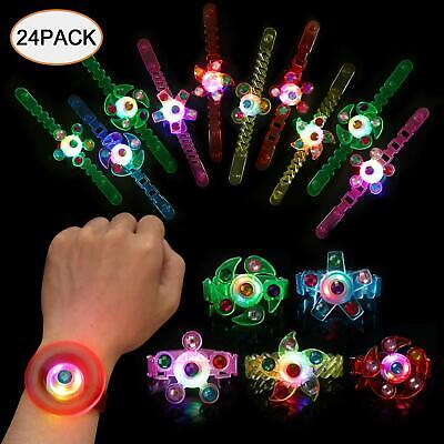 Light Up Bracelet Glow in The Dark Party Favors for Kids 24pk Wristband LED Neon - Glow In Dark Light