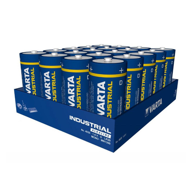 20 Stk. D MONO Batterien | VARTA Industrial Serie | LR20 17000mAh | 20er Pack