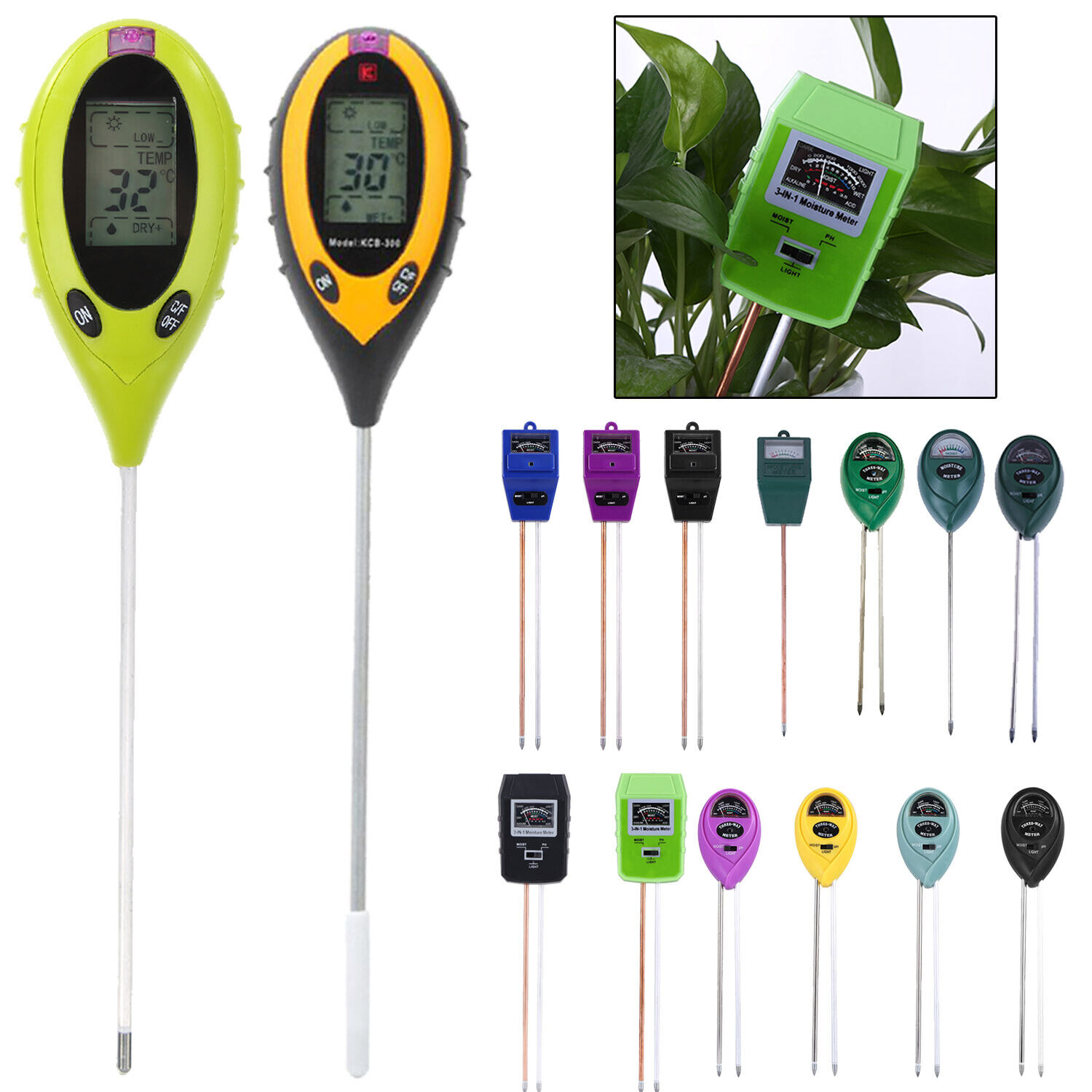 soil moisture meter and ph humidity level