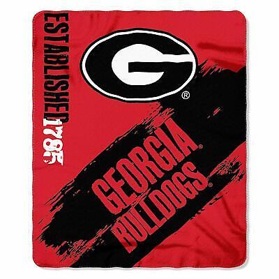 Bulldogs Fleece Blanket - Georgia Bulldogs NCAA Blanket 50x60 Fleece Throw College Painted Design