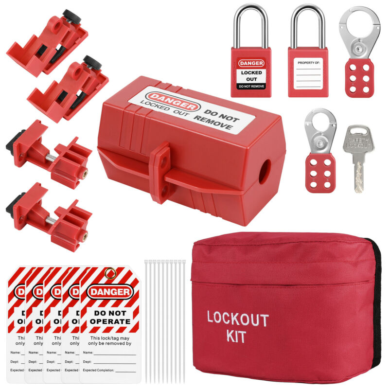 Lockout Tagout Kit Electrical Loto Safety Equipment Tools, Universal Breaker