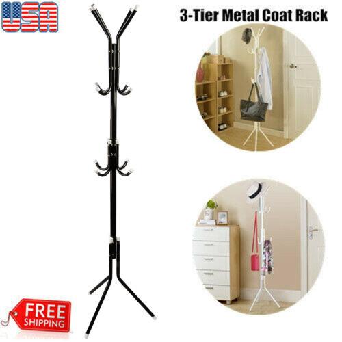 Coat Rack Clothes Hat Hanger Tree Stand Umbrella Holder Bag