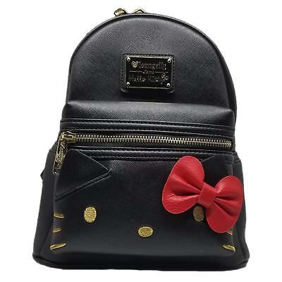 Loungefly Sanrio Hello Kitty Bow Cute Black Mini Faux Leather Backpack SANBK0344