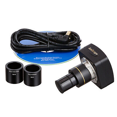 Amscope 1.3mp Microscope Digital Camera Usb Video Stills W Measuring Software