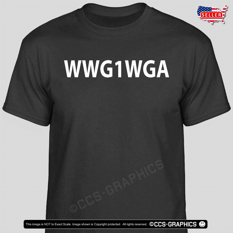 WWG1WGA T-Shirt - trump bread crumb storm qanon t shirt tee MAGA Q white rabbit