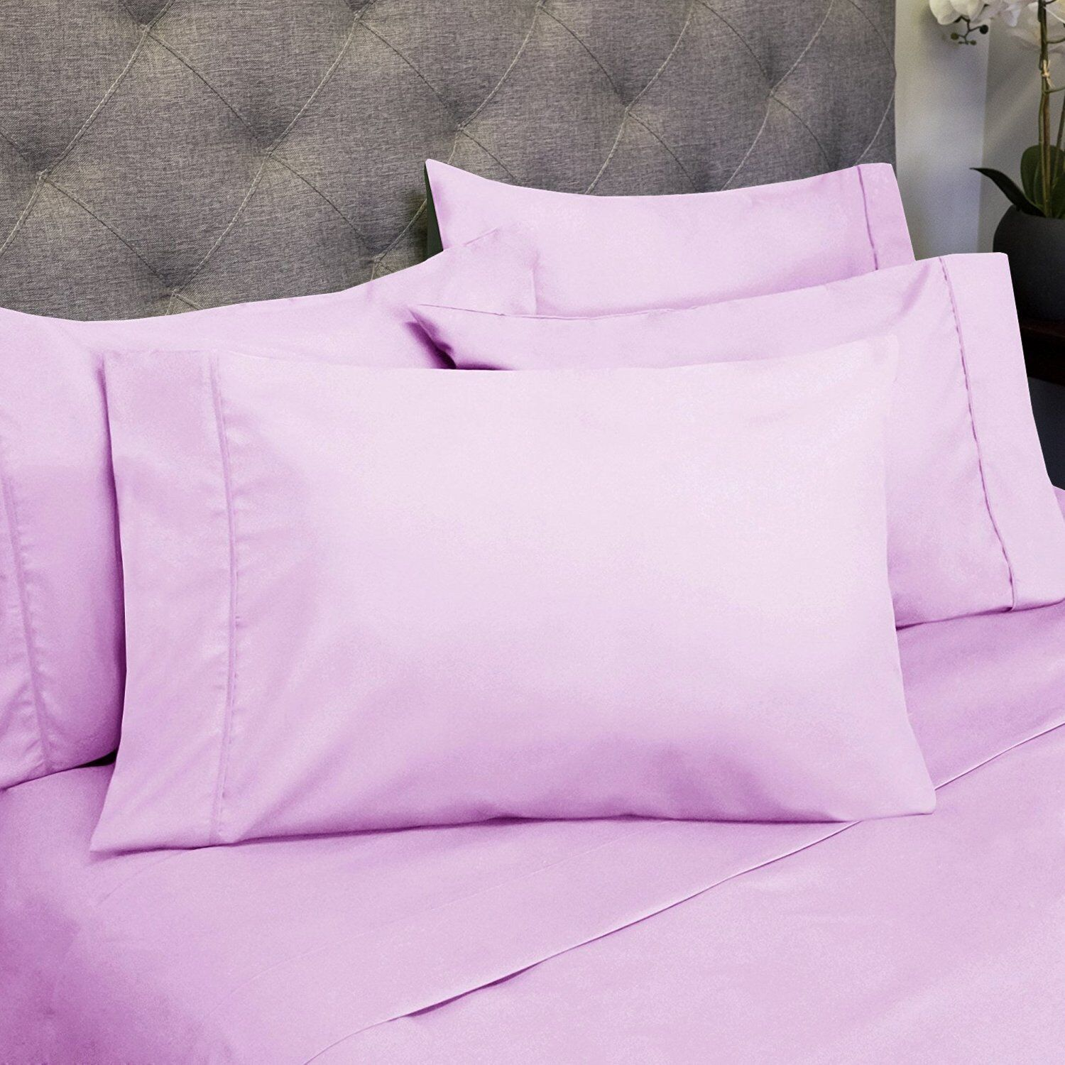 Sweet Home Collection Deep Pocket Bed 6 Piece Sheet Set King