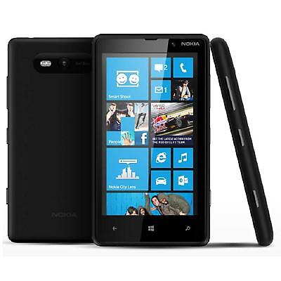 Nokia Lumia 820 8GB Black. AT&T GSM Global Windows Unlocked Smartphone New Inbox