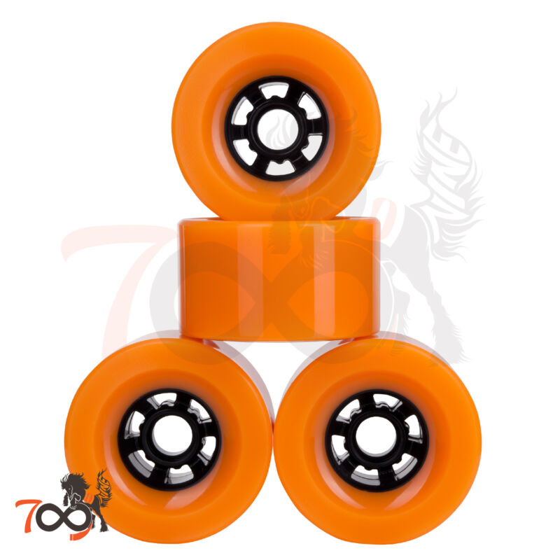 Cal 7 Pro 90mm 78A Cruiser Skateboard Wheels, Longboard Flywheel Orange (4pcs)