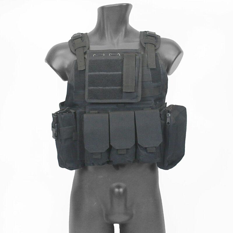 MetalTac Airsoft Vest Tactical Strike Plate Carrier Protection Black