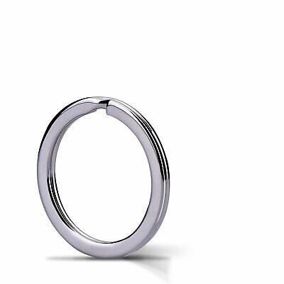1 Piece Flat Key Chain Rings Metal Split Ring Round Keyrings