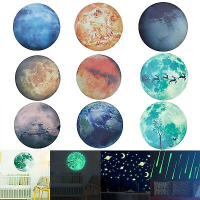 Luminous Glow in the Dark Moon Star Wall Sticker Home Art Decor Kids Room Decal