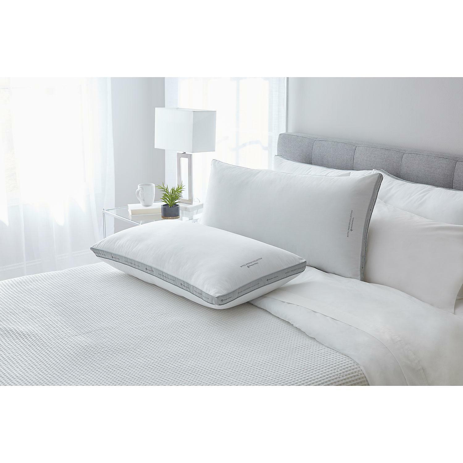 New 2 Pack King Size Bed Pillows 100% Egyptian Cotton Cover