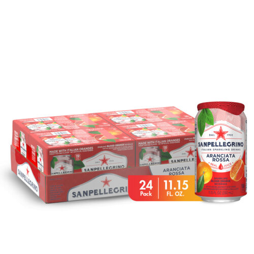 Sanpellegrino Blood Orange Italian Sparkling Drinks, 11.15 fl oz. Cans (24 Count