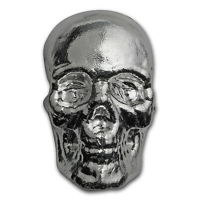 1 kilo Silver Skull - Atlantis Mint - SKU #152275