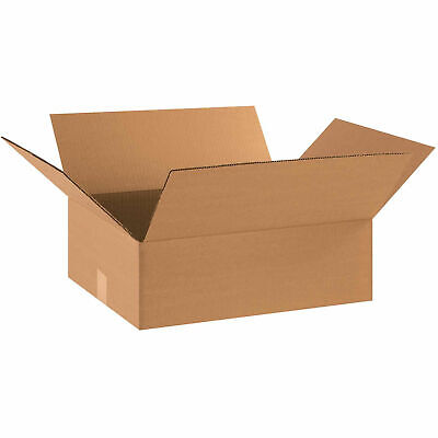 18 X 14 X 6 Flat Cardboard Corrugated Boxes 65 Lbs Capacity Ect-32 Lot Of