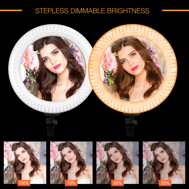 """18"""" LED Ring Light with stand for Photo Studio, Vedio Beauty Makeup"""