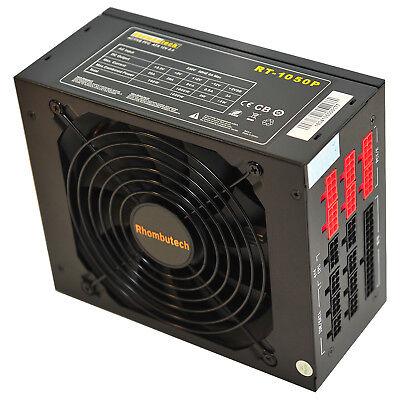 1050 WATT MODULAR PC ATX Computer Netzteil SATA W 14cm 140mm Lüfter 80+ Werte