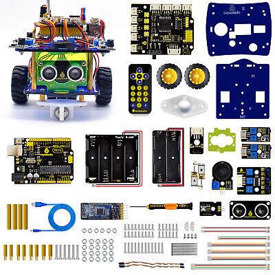 Keyestudio Kids Electronic Project Car Robot Starter Kit V3.0 For Arduino Uno R3