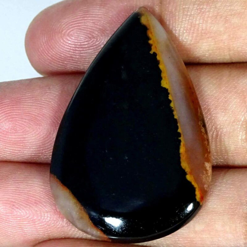 43.90Cts 100% Natural Blood Stone Pear Cabochon Loose Gemstone