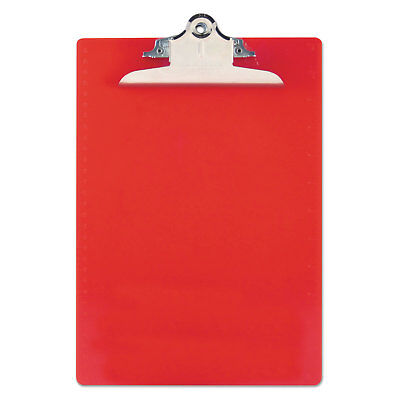 Saunders Recycled Plastic Clipboards 1 Clip Cap 8 12 X 12 Sheets Red 21601