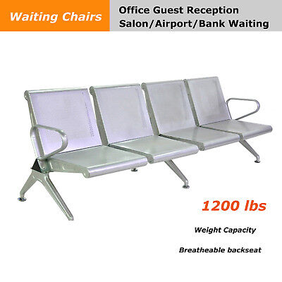4-seat Waiting Chair Office Airport Reception Room Bench Bank Salon Hall Seat