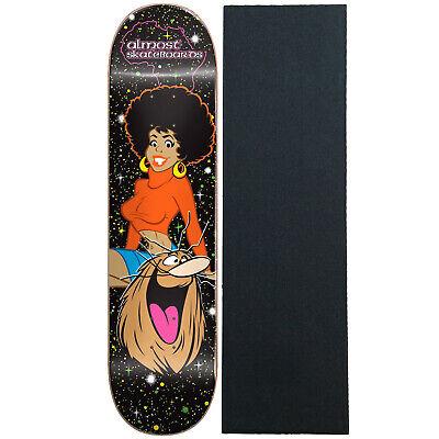 Almost Skateboard Deck Caveman Blacklight 8.375