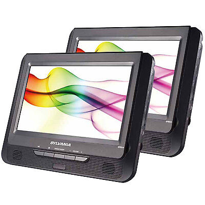 "Sylvania SDVD9805 9"" Twin Dual Screen DVD Player"