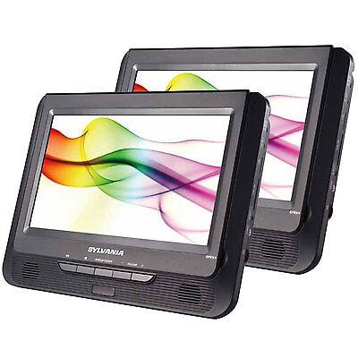 """Sylvania SDVD9805 9"""" Twin Dual Screen DVD Player"""