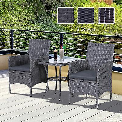 Garden Furniture - Rattan Furniture Bistro Set Garden Table Chair Patio Outdoor Conservatory Wicker