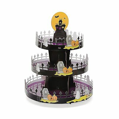 Halloween Cupcake Stand, Good Cook Sweet Creations, Graveyard Scene, - Halloween Sweets Wholesale