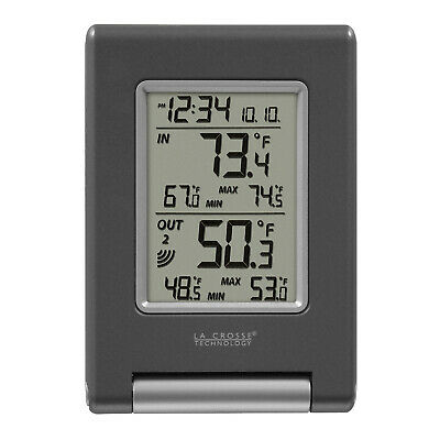 La Crosse Technology Wireless Temperature Station, Grey, 1 e