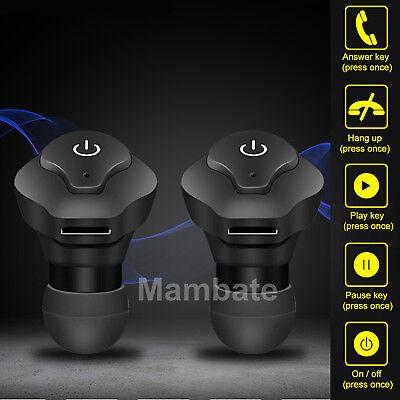 Agptek Mini Tws Twins Wireless Bluetooth Stereo Headset In Ear Earphones Earbuds