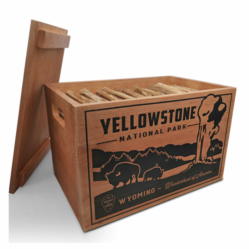 Better Wood Products Protect the Parks Fatwood Firestarter Crate, Yellowstone
