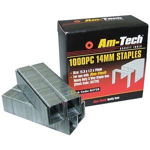 1000 Heavy Duty 14 mm Quality Staples for Staple Gun Office Wall