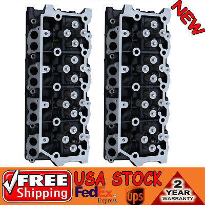 2 NEW FOR FORD 6.0 TURBO DIESEL F-250 F350 F450 TRUCK CYLINDER HEAD 18MM NO CORE