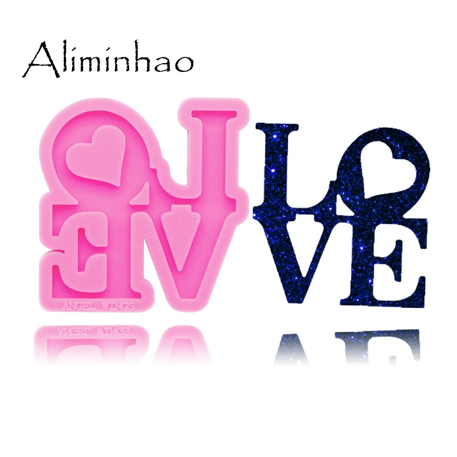 Love Letter Silicone Molds DIY Epoxy Resin Molds Keychain Si