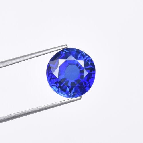 9.20 Carat Natural Ceylon Cornflower Blue Sapphire Round Cut Certified Gemstone