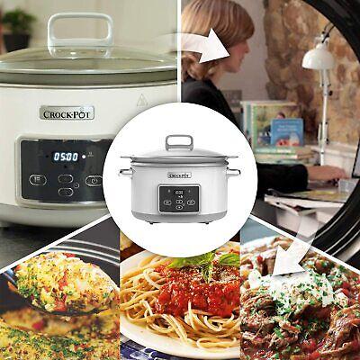 Crock-Pot Duraceramic CSC026X Olla de cocción lenta digital Cualquier Cocina
