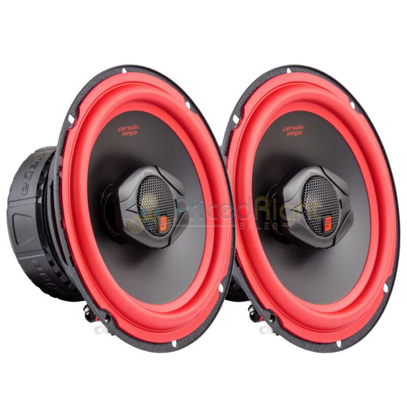 "Cerwin Vega V465 6.5"" 2 Way Coaxial Car Speakers Titanium Dome Tweeter Pair"